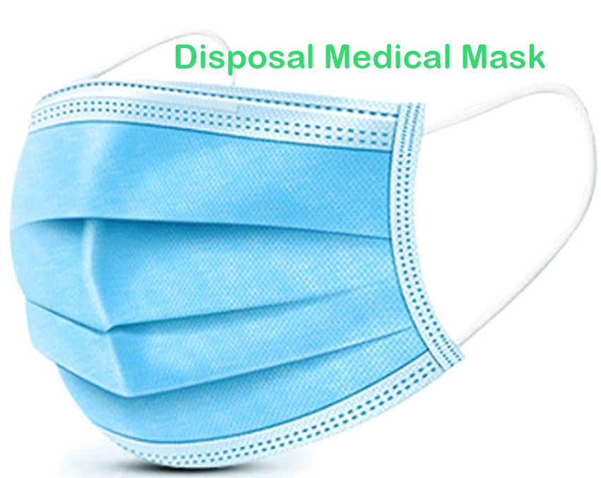 Disposable Medical Face Masks with Elastic Ear Loop 3 Ply Breathable and Comfortable